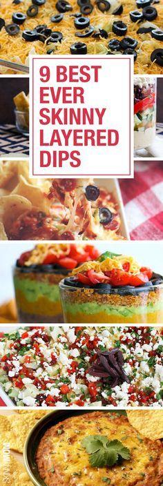 Healthy Layered Dips   Dips, Skinny and Layer Dip