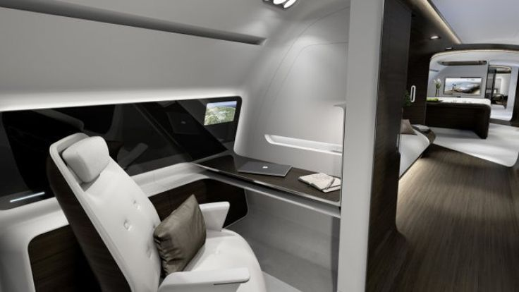 Lufthansa's private jet cabin takes luxury and style to the next level
