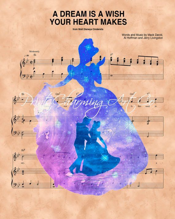 Cinderella Silhouette Prince Charming A Dream Is A Wish Your