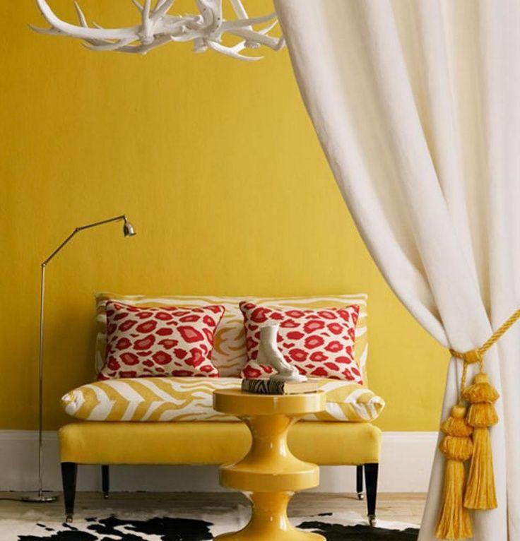 Gele muur, lekker zonnig!
