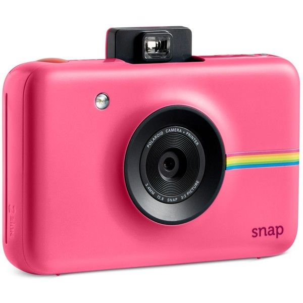Polaroid Snap Instant Digital Camera (6.020 RUB) ❤ liked on Polyvore featuring pink