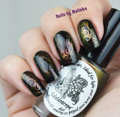 Nails by Malinka: Kaleidoscope 61 duo amazing cat
