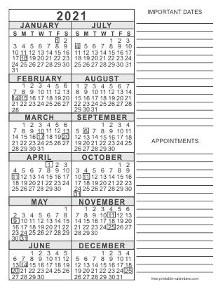 Free Printable 2021 Calendar Pages 3 Months Full Version ...
