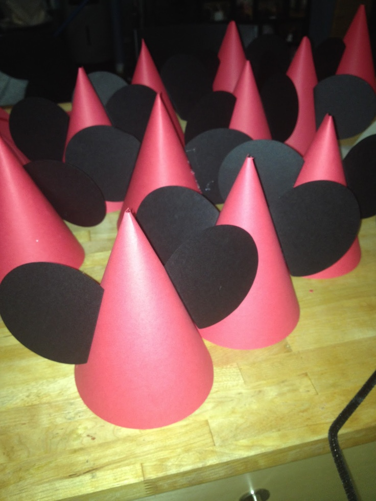 mickey mouse template | Mickey Mouse Party Hats