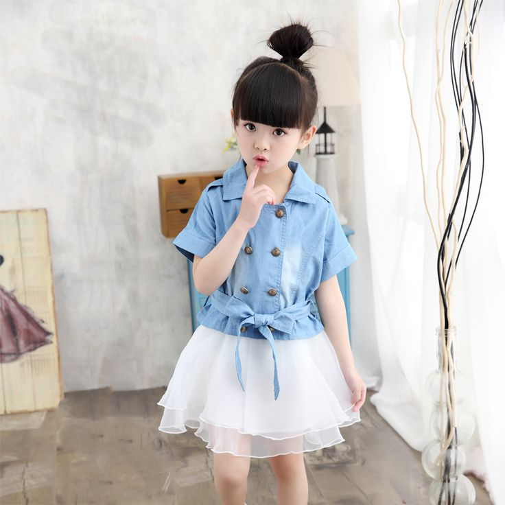 >> Click to Buy << Child New Korean Girls Summer Suit Denim Two Sets of Children Dres Kids Clothing White Blue #Affiliate