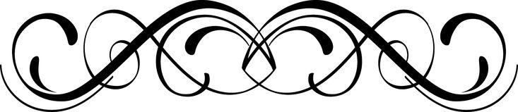 Fancy scrollwork clip art vector free