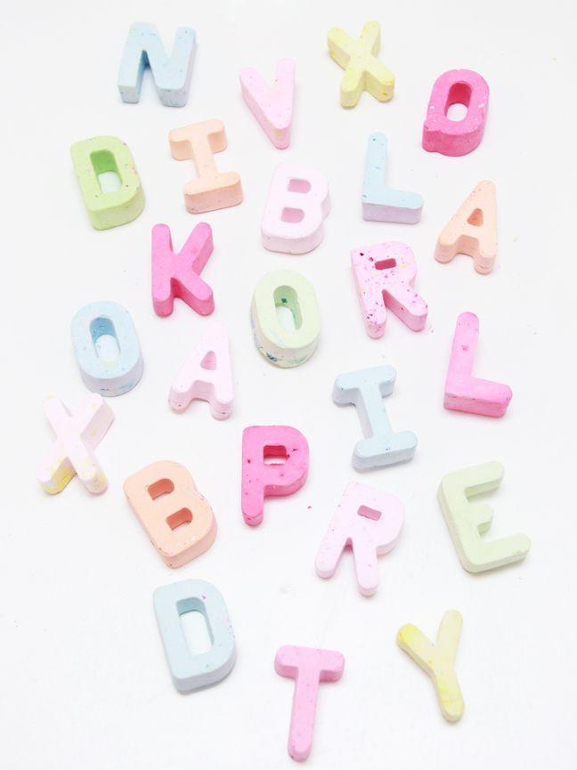 diy chalk letter alphabet