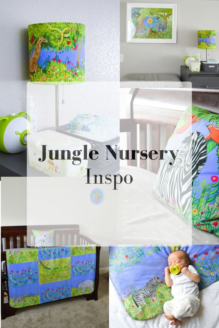 A simple jungle themed nursery from Mouse + Magpie. Click for more! #mouseandmagpie