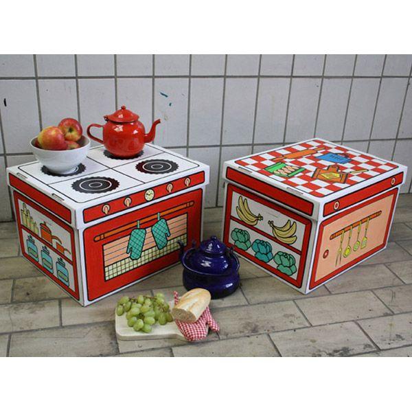 Cajas de cartón para pintar Cocina de Villa Cartón en MiniKidz