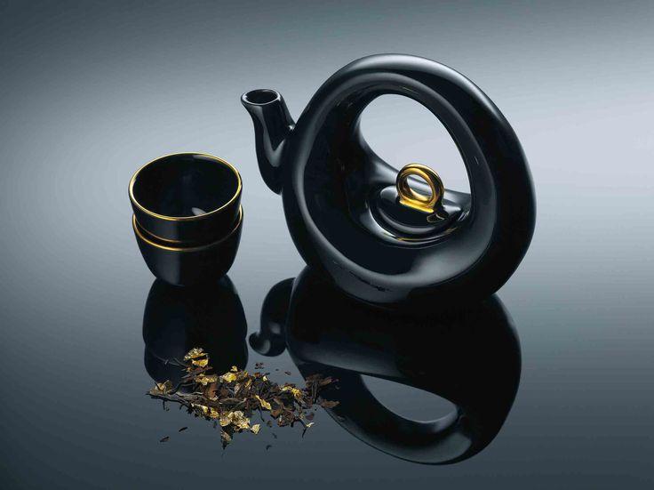 Contemporary Design Africa   Featured Designer: Black Glazed Earthenware  Teaset From YSWARA. Image Courtesy