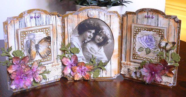 Artdeco Creations Brands: Vintage Tri-fold Card by Adriana Bolzon