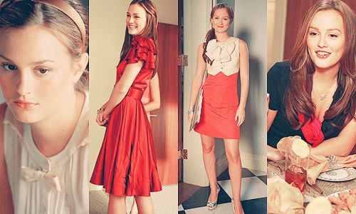 Season 2 Gossip Girl. Leighton Meester is so pretty, and I love the way they style her! ^_^