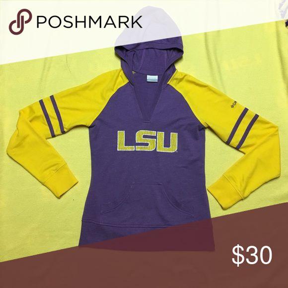LSU Sweatshirt Super cute, barely worn sweatshirt that's perfect to show your spirit! 💜💛 Columbia Tops Sweatshirts & Hoodies