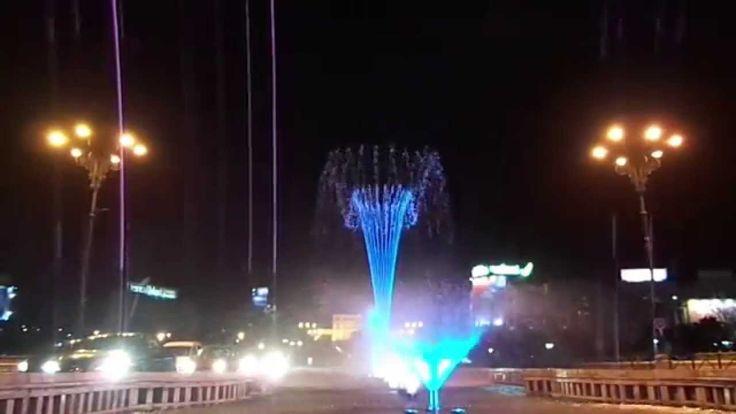 Coloured Fountain - Bucharest Unirii Square