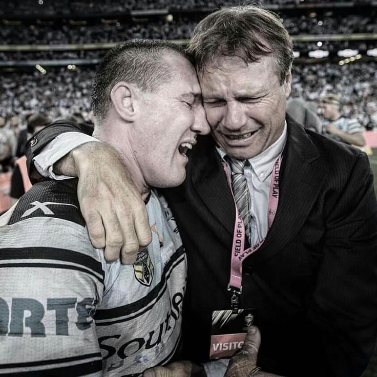 Paul Gallen and Andrew Ettingshausen - Feeling emotional after Cronulla finally wins a grand final - 2016