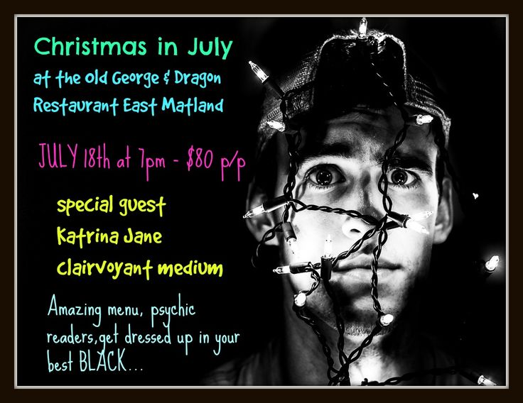 We love to do something a bit different - try our Christmas in July with a dark twist for some extra special fun!