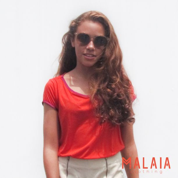 Blusa en naranja neon! #MalaiaBasics