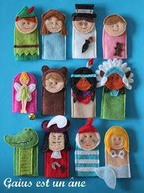 Marionnettes à doigts Peter Pan en feutrine / Peter Pan felt finger puppets
