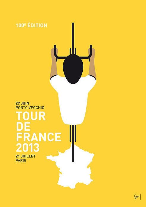 Tour de France 2013 Minimal Poster by Chungkong Art | About Pretty Blog