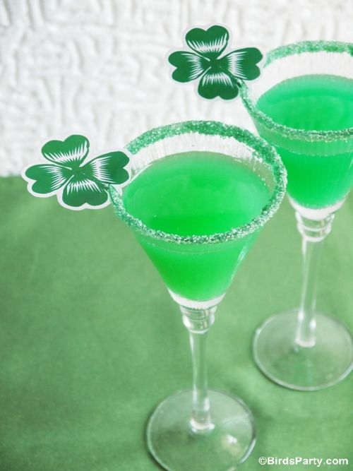 St Patrick's Day Party: Last Minute GREEN Party Food  + Cocktail Recipes by Bird's Party