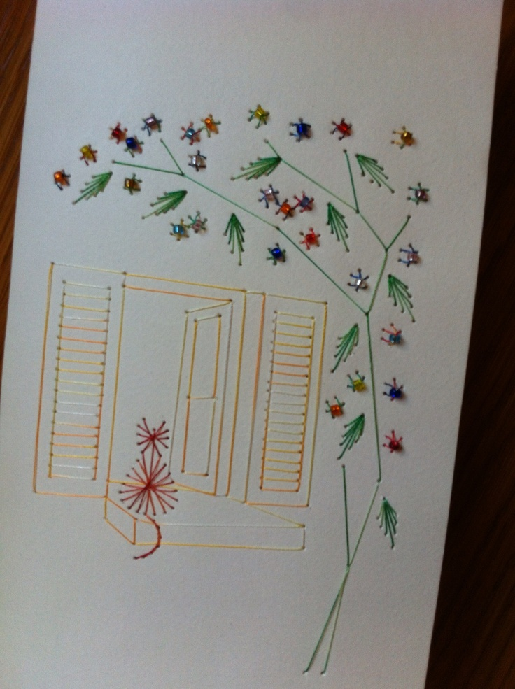 138 Best Embroidery On Paper Scenes Images On Pinterest Cards