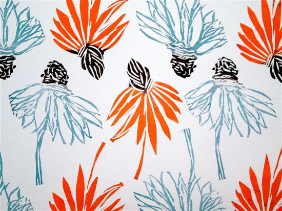 Deborah Velásquez: Hand Printed Echinacea and Color Play
