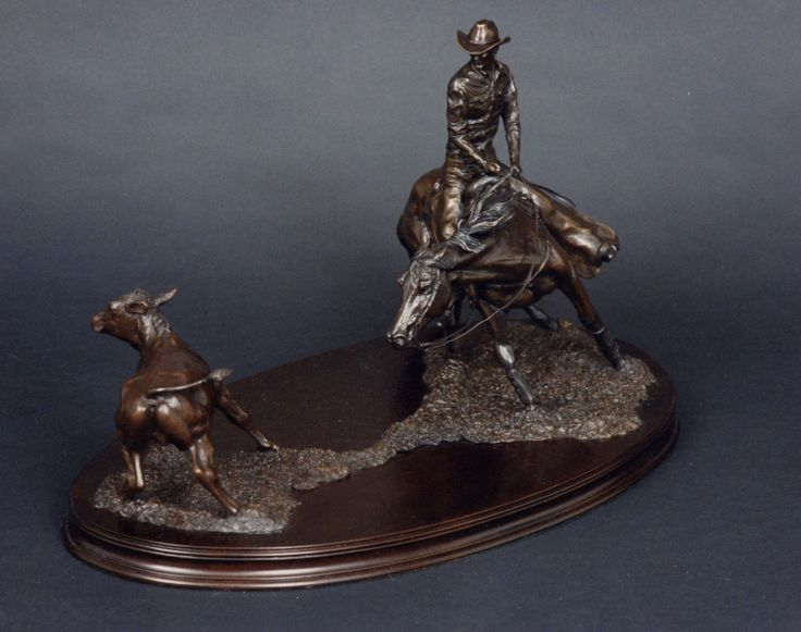 'Cutter' bronze sculpture by Gill Parker
