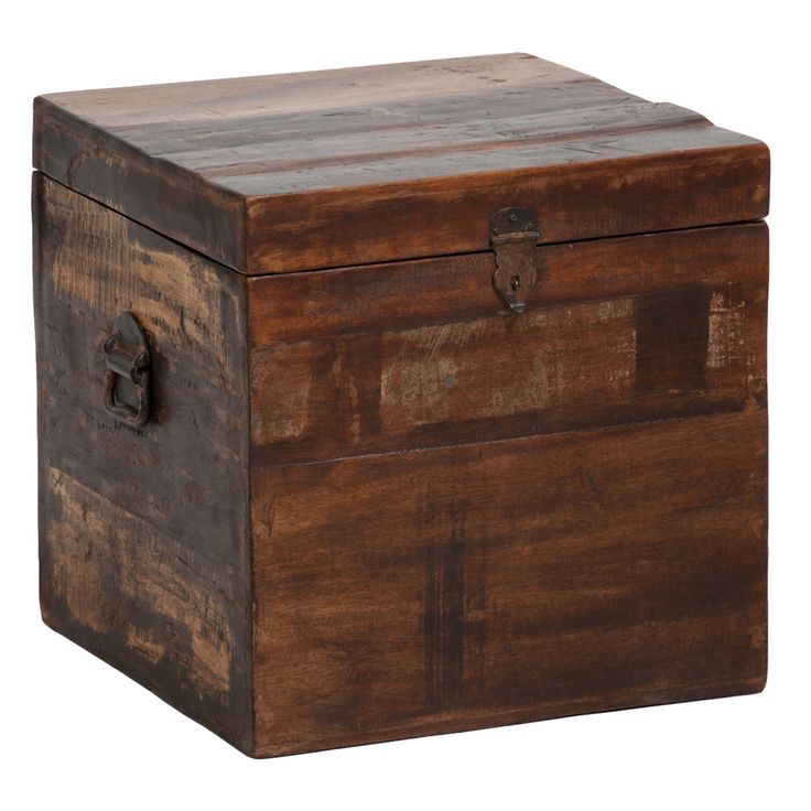 Bali Small Recycled Wood Box | Overstock.com - Images About Reclaimed Wood Furniture On Pinterest