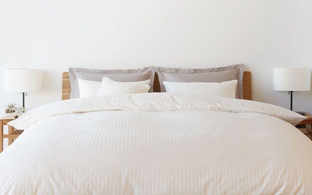 インド綿高密度サテン織ホテル仕様掛ふとんカバーS/グレー 150×210cm用 | 無印良品ネットストア
