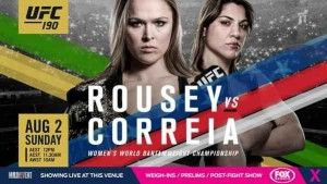 UFC Womens Bantamweight Championship bout between Rousey vs Correia UFC 190 Live. Watch UFC 190 Live online HD Stream with current champion Ronda Rousey and