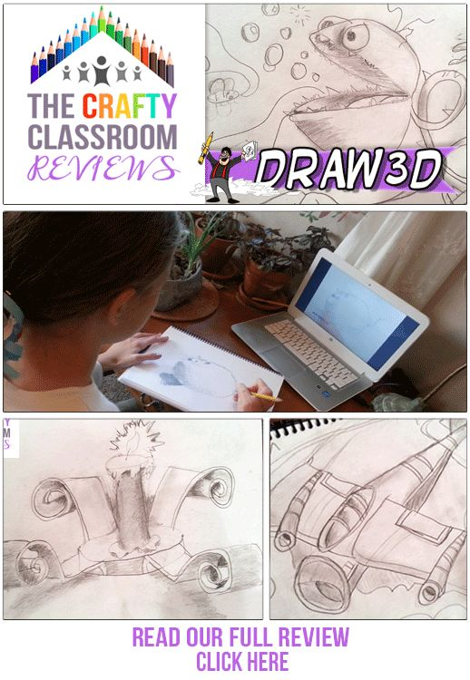 Homeschool Art Curriculum. This online program took my daughter from rudimentary drawing skills to these amazing creations in a matter of days. The Crafty Classroom reviews Mark Kistler's Draw3D