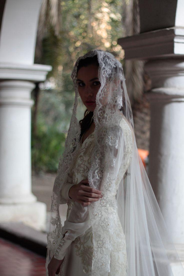 vestido de novia, velo catedral
