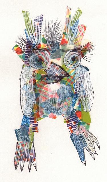 Washi-tape owl