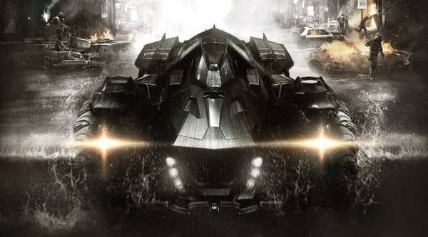 """Escono in anteprima le immagini della nuova Batmobile - Svelata dal nuovo videogioco sviluppato da Rocksteady Studios la nuova Batmobile di Batman, equipaggiata con un cannone """"Battle Mode"""" e un'arma """"Anti Sommossa"""". Per la verità """"Batman: Arkham Knight"""", ovvero l'ultimo dei videogames dedicati al Cavaliere Oscuro, uscirà nel 2015, subendo quindi uno slittamento rispetto alla precedente data fissata ad ottobre 2014."""