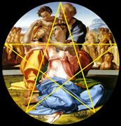 Artists through the ages Math:  Powerpoint Slide Show: this is one slide: Golden Section in Michelangelo's The Holy Family