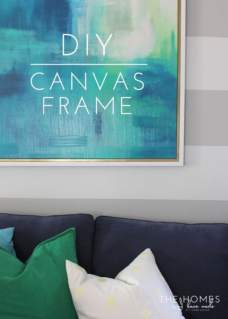 How to DIY a custom frame for extra large art - easy and cheap!!!!