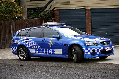 Queensland, Austrailia Police Service Traffic Branch Commodore SV6 Sportswagon