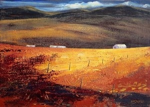 """""""Evening glow, Overberg"""" Best of South African Artists"""