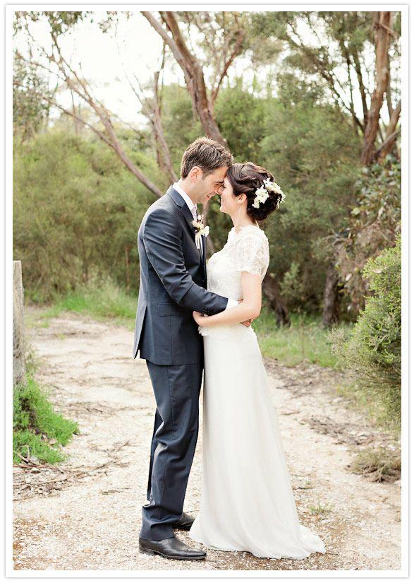 vintage australian wedding hair • Australian outdoor bush wedding • Australian mateship