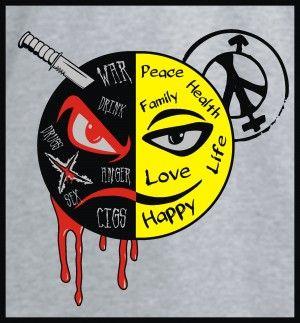sides of life #tshirtdesign #tshirtprint #goodvsevil #tinygecko