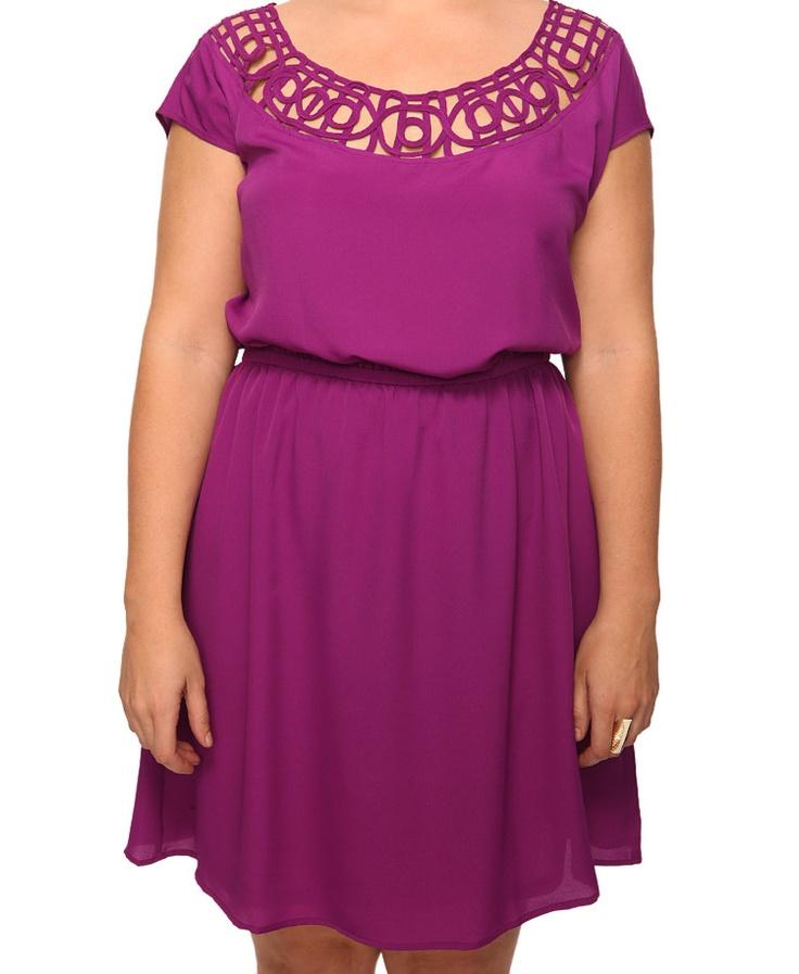 Cutout Neck Dress