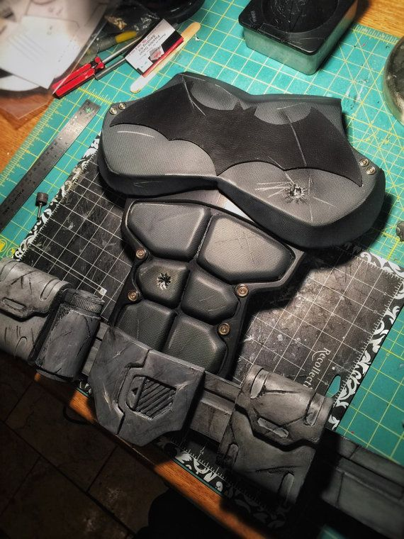 Batman Torso/Shoulders: Arkham Origins by CrimeAlleyFX on Etsy