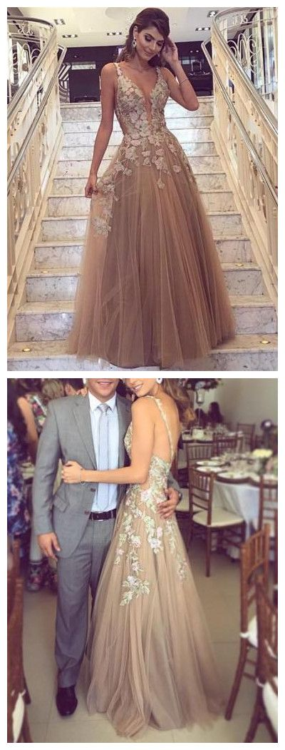 A line Prom Dress,Champagne Prom Dress,Prom Dress With Straps,Long Prom Dress,Cheap Prom Dress #amyprom #longpromdress #2018prom #promdress