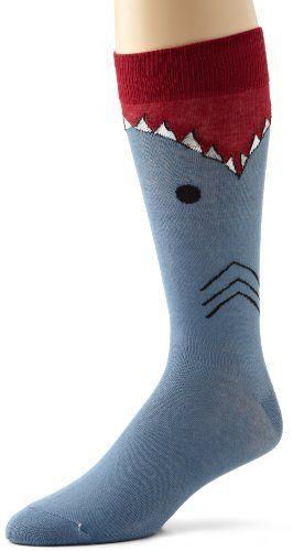 Amazon.com: K. Bell Socks Men's Shark Socks: Clothing