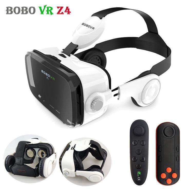Original BOBOVR Z4 Leather 3D Cardboard Helmet Virtual Reality VR Glasses Headset Stereo Box BOBO VR for 4-6' Mobile Phone  Price: 25.75 USD