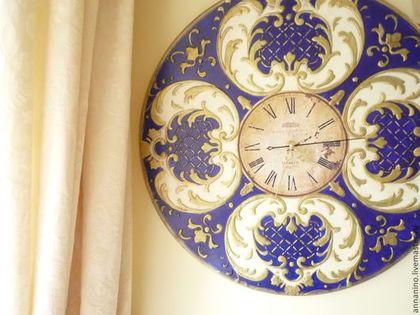 Купить или заказать Часы настенные Магия барокко Южная ночь в интернет-магазине на Ярмарке Мастеров. Настенные часы, декупаж, золочение, объемное декорирование, состаривание. Эффектные настенные часы - яркий акцент в декоре Вашего дома. Стильные настенные часы в стиле классического барокко, сделаны на…