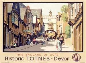 Historic Totnes - Devon. Art Print by Claude Buckle at Barewalls.com: Poster Art, Art Prints, Railway Posters, Gwr Posters, Posters U K, Railway Typography, Travel Posters, Country Posters