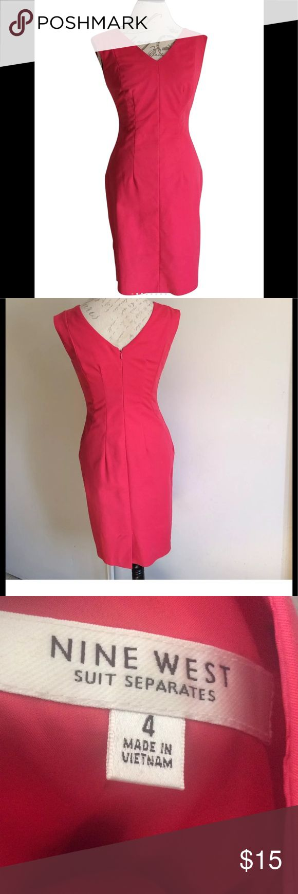 Nine West Dress Size 12 Pink Suit Separates Nine West Women's Dress Size 12 Pink Suit Separates V Neck Pencil Work, Casual   Small white stains located close to Armpit  Small Stain located front bottom dress. No rips. Overall Dress is still good Condition to wear   Measurements laying flat  Armpit to Armpit 34 inches  Waist 30 inches  Top to bottom 36 inches   B5 9.9 Nine West Dresses Midi