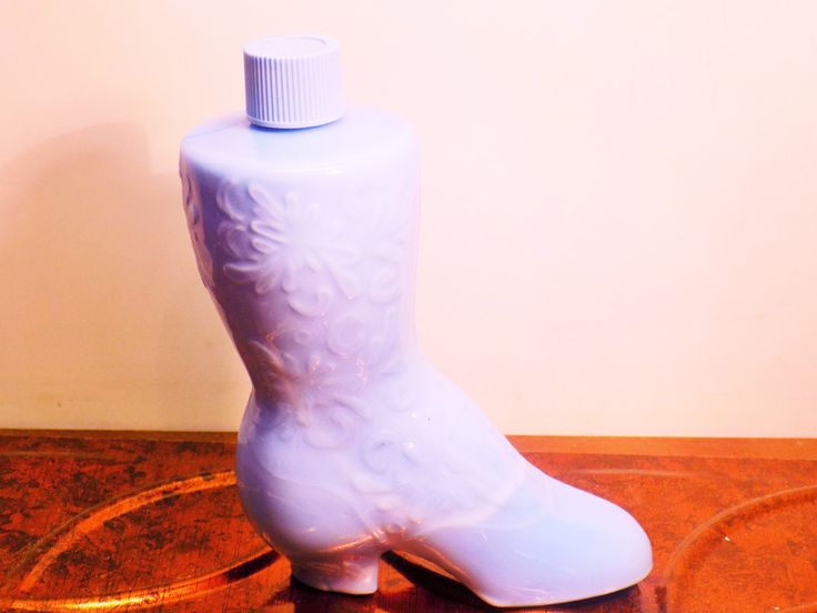 Avon Charisma Cologne 4 OZ. Light Blue Women's Boot Bottle Empty by IZZYSCollectibles on Etsy