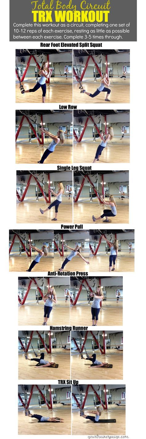 Total Body Circuit TRX Workout {Make Your Body Your ...